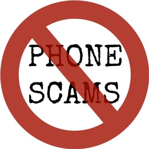 phone scam sign