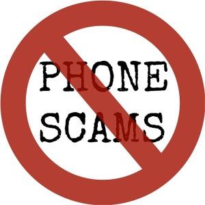 phone scam sign